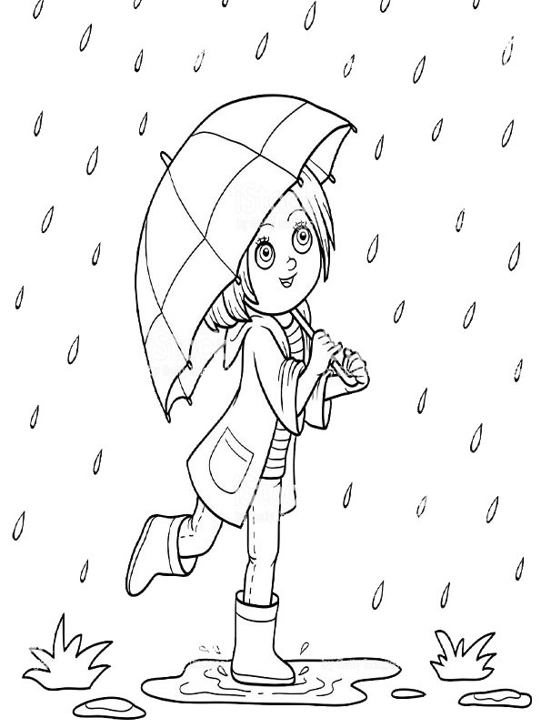 kids-n-fun.de | malvorlage regenschirm kinder mit regenschirm