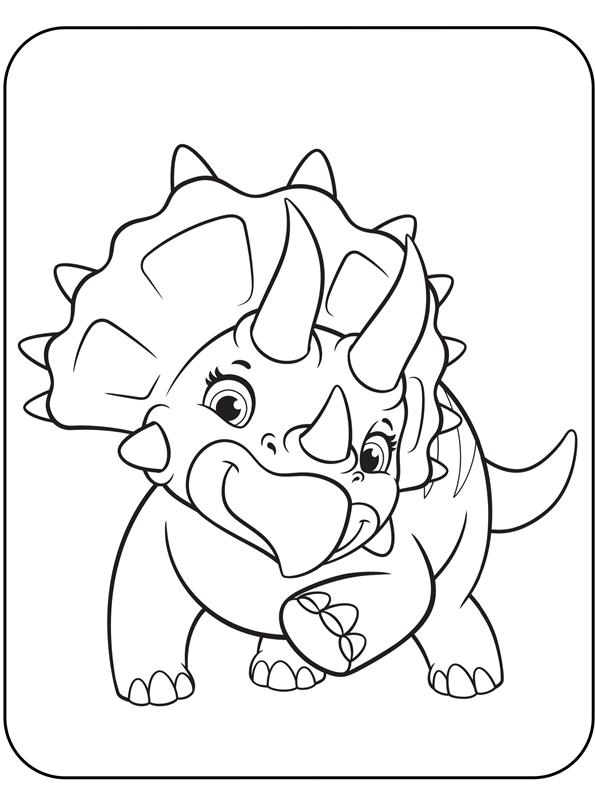kidsnfunde  malvorlage paw patrol dino rescue triceratops
