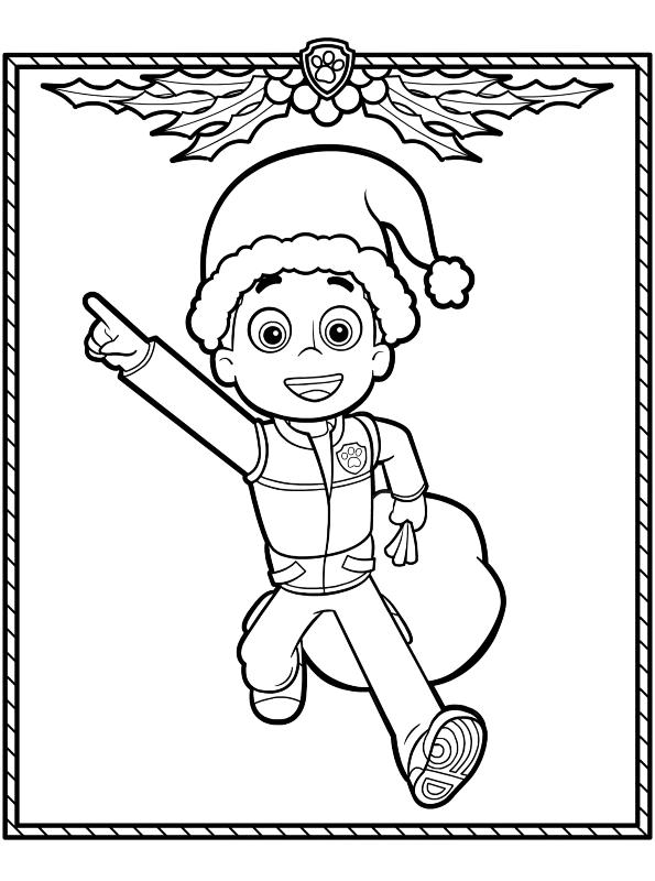 kidsnfunde  malvorlage paw patrol weihnachten ryder