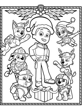 kids-n-fun.de   15 ausmalbilder von paw patrol weihnachten