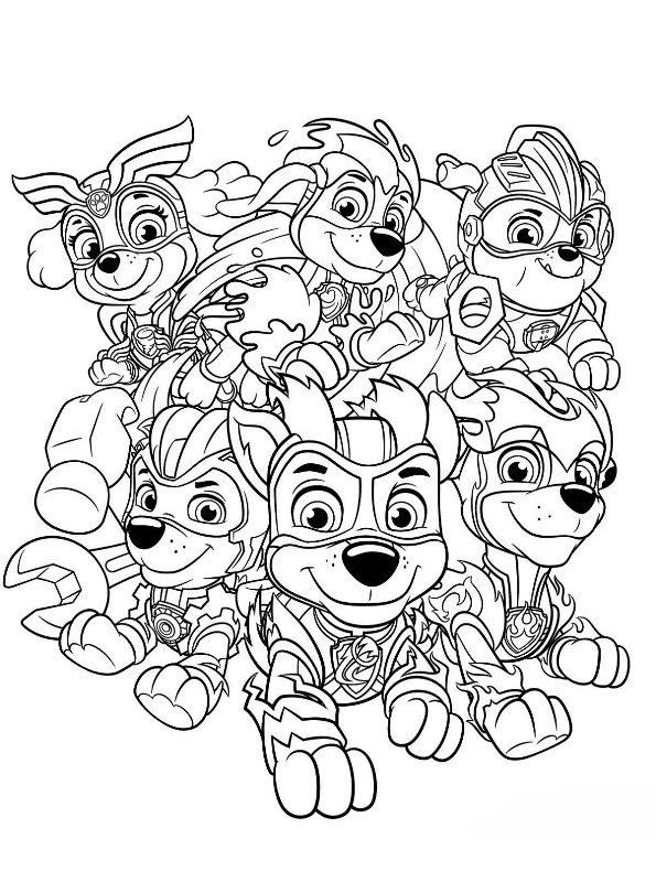 kidsnfunde  malvorlage paw patrol mighty pups charged up