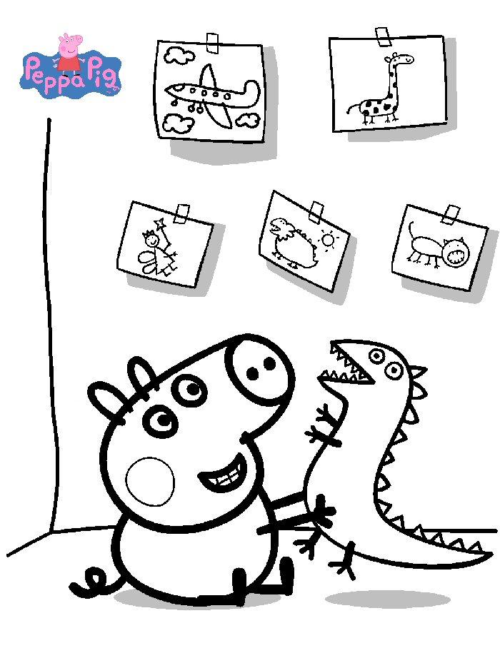 Kids N Fun De 20 Ausmalbilder Von Peppa Pig