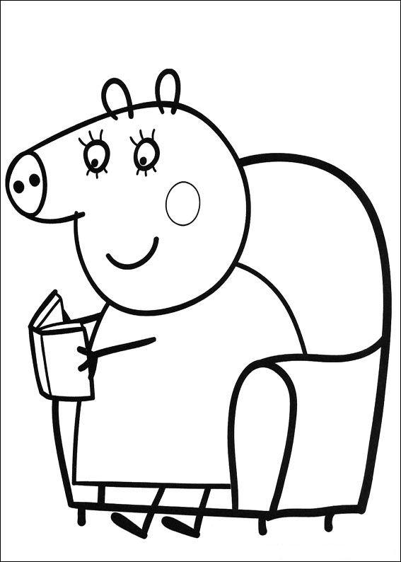 kidsnfunde  malvorlage peppa pig peppa pig