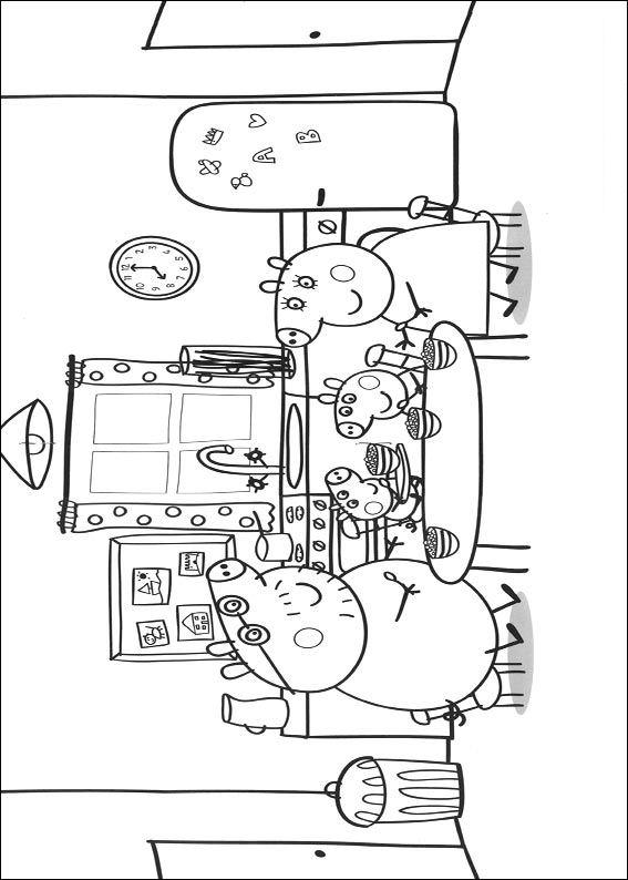 kidsnfunde  20 ausmalbilder von peppa pig