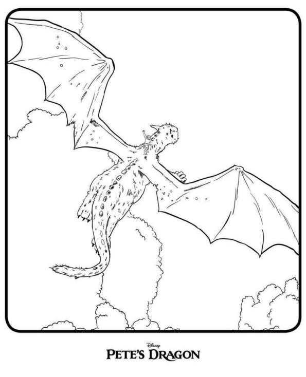 Ausmalbilder Lego Elves Drachen: 5 Ausmalbilder Von Elliot, Der Drache