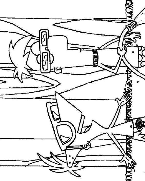 Ausmalbilder Kostenlos Disney Phineas Und Ferb 13