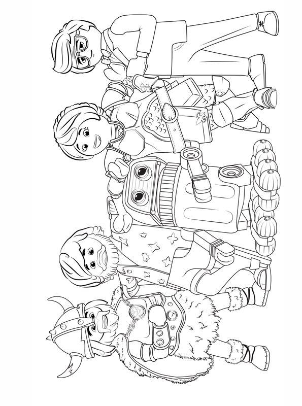 kidsnfunde  malvorlage playmobil the movie playmobil