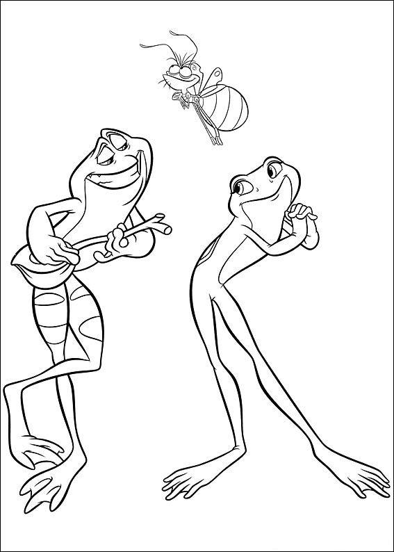 Kids n fun.de | 37 Ausmalbilder von Kuss den Frosch