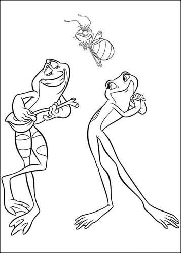 Kids N Fun De 37 Ausmalbilder Von Kuss Den Frosch