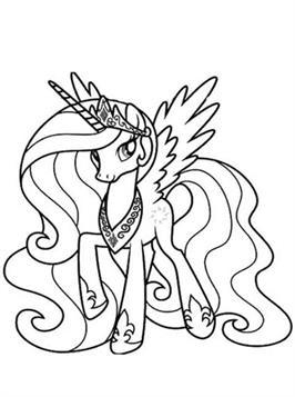 Kids N Fun De 20 Ausmalbilder Von Prinzessin Celestia My Little Pony