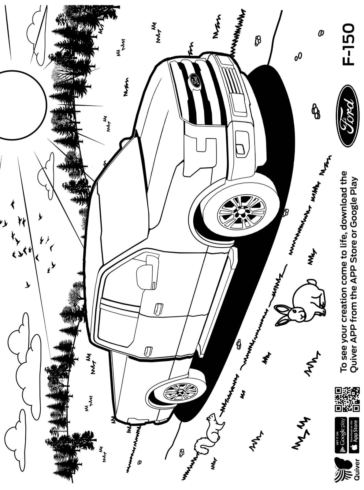 Kids-n-fun.de  Malvorlage Quiver Ford F 9