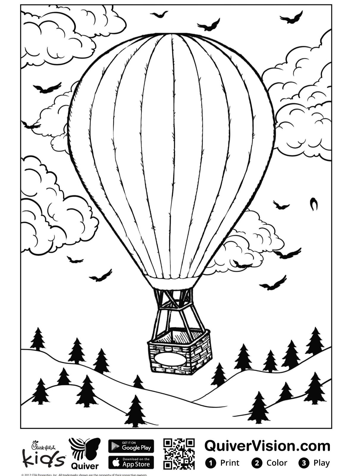 kidsnfunde  malvorlage quiver luftballon