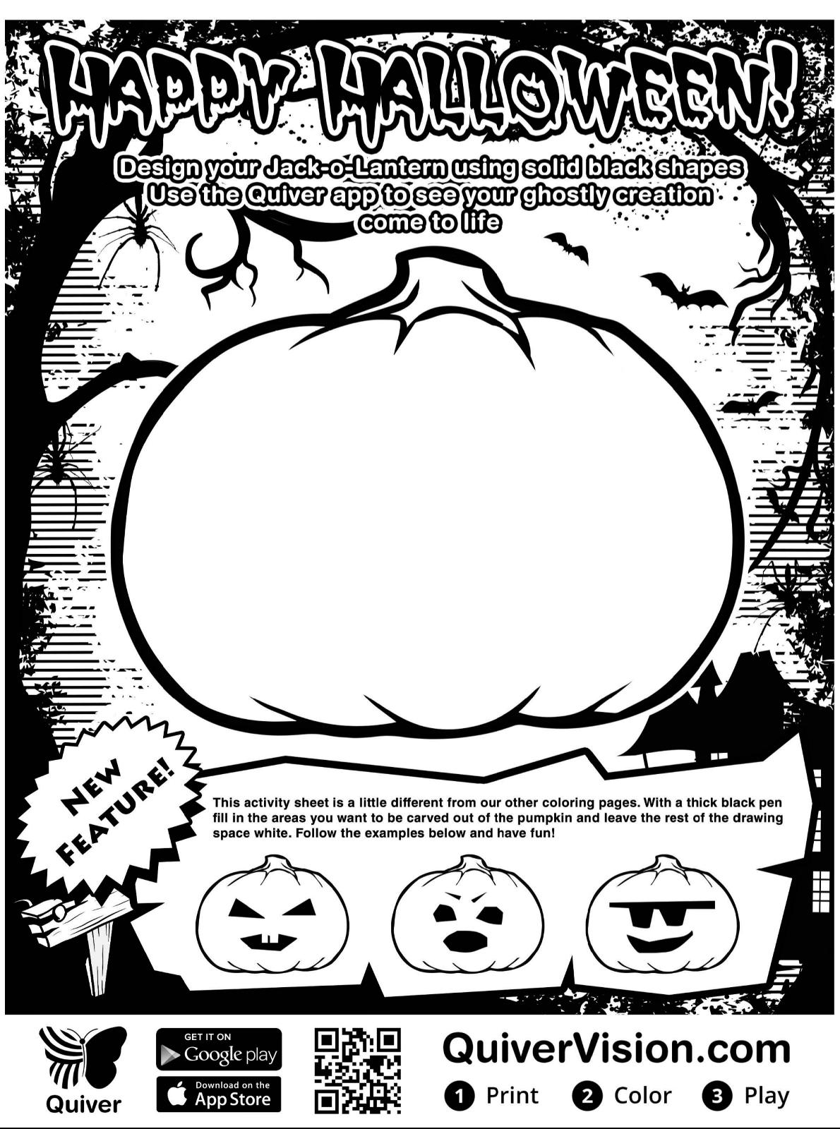kidsnfunde  malvorlage quiver happy halloween