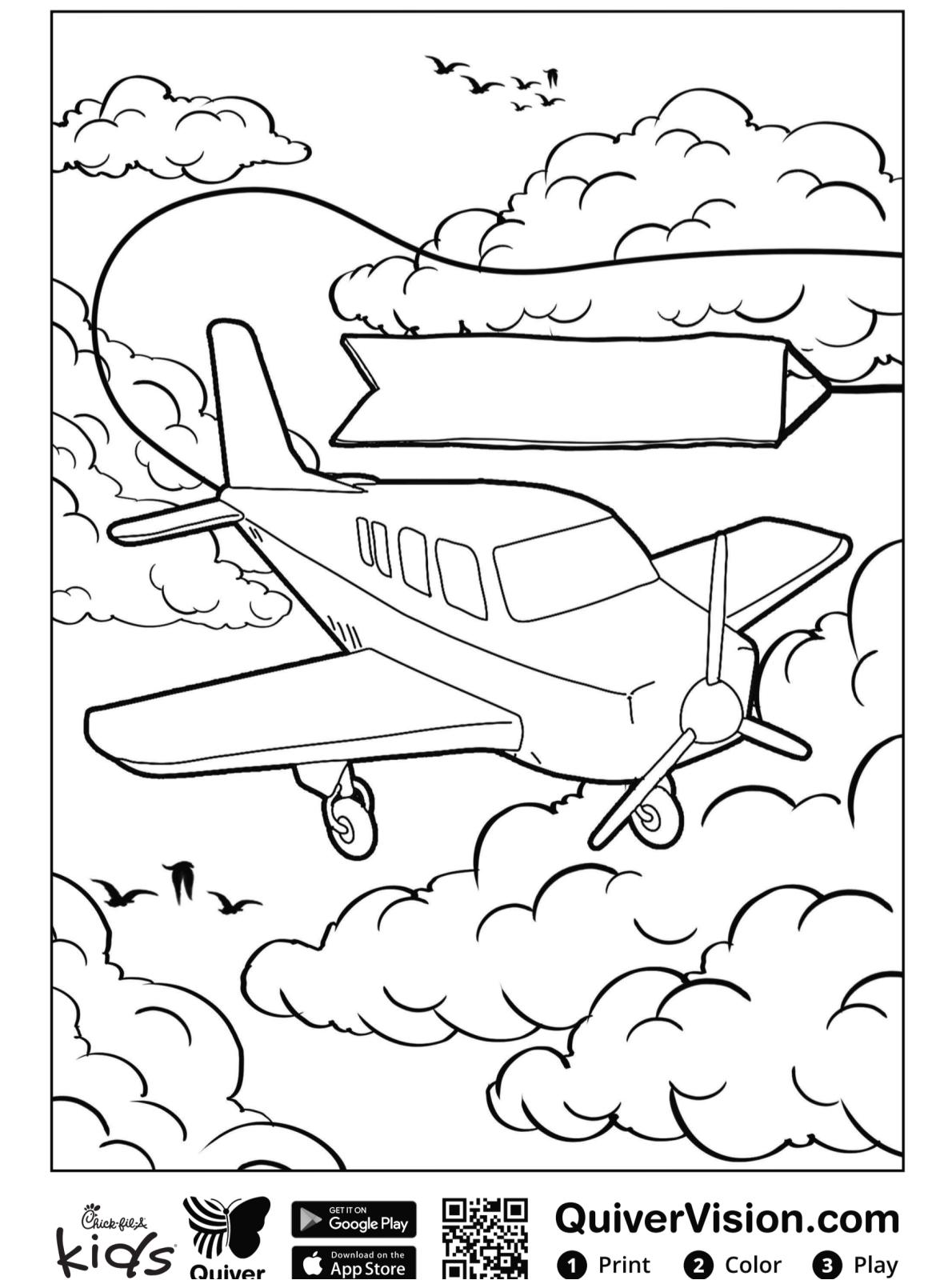 Kids-n-fun.de  Malvorlage Quiver Flugzeug
