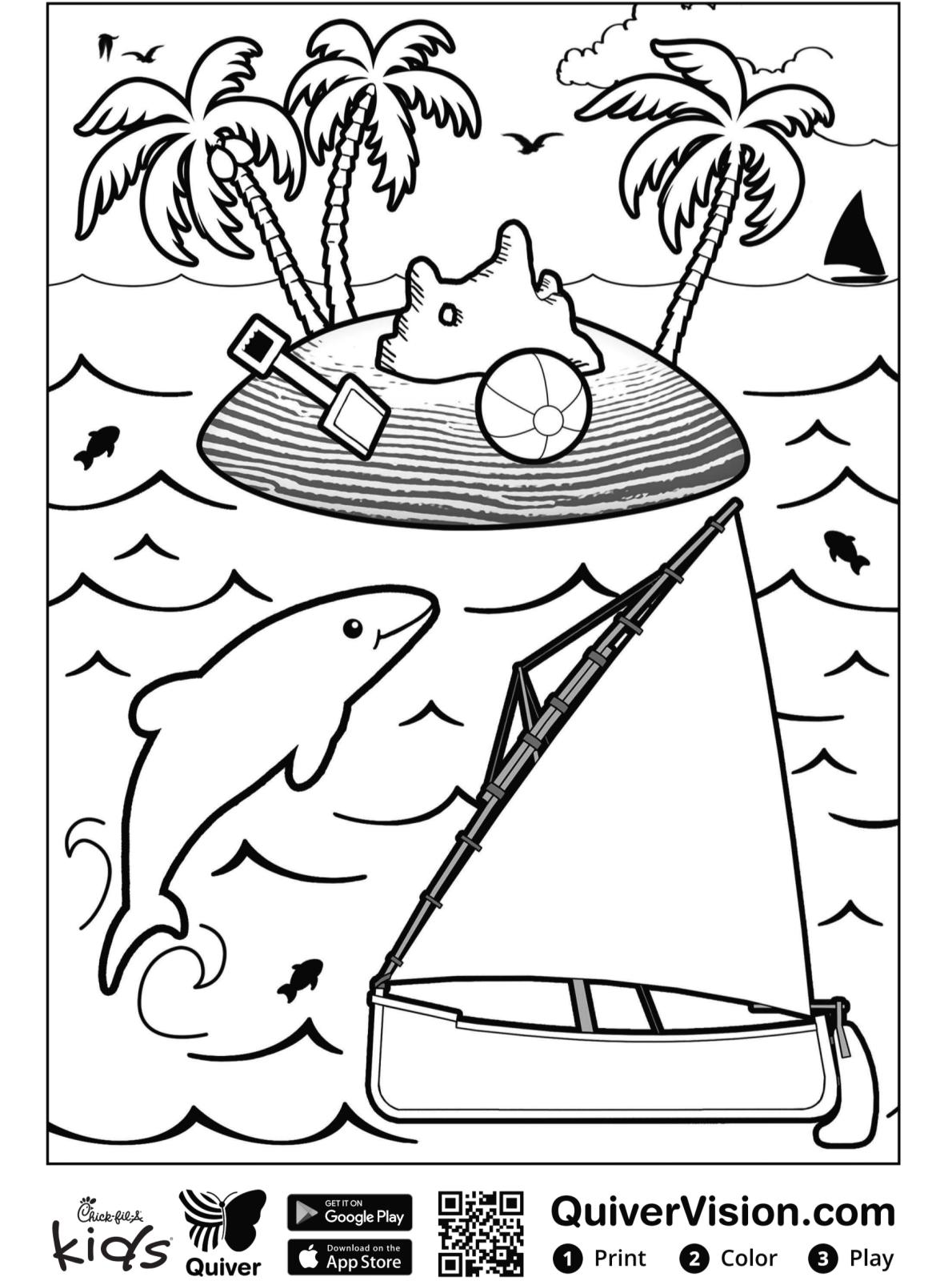 kidsnfunde  malvorlage quiver segelboot