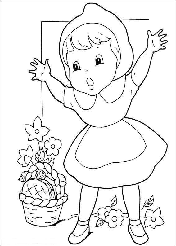 kidsnfunde  malvorlage rotkappchen rotkappchen