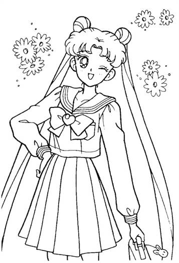 Kids N Fun De 66 Ausmalbilder Von Sailor Moon