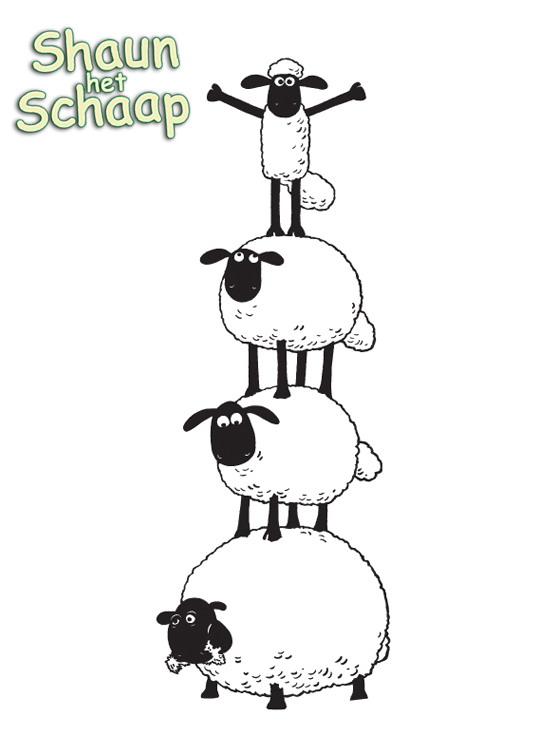 Kids-n-fun.de | 3 Ausmalbilder von Shaun das Schaf