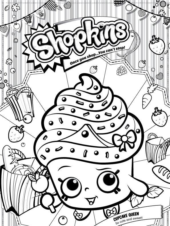 Kids N Fun De Ausmalbild Shopkins Cupcake Queen