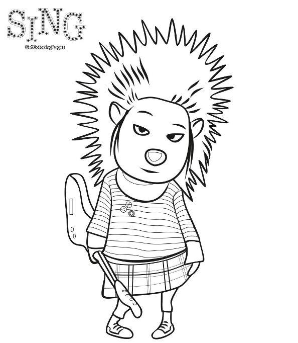 sing coloring pages - kids n 31 ausmalbilder von sing