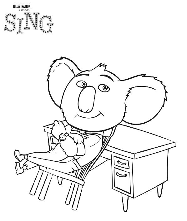 Kids n 31 ausmalbilder von sing for Sing movie coloring pages