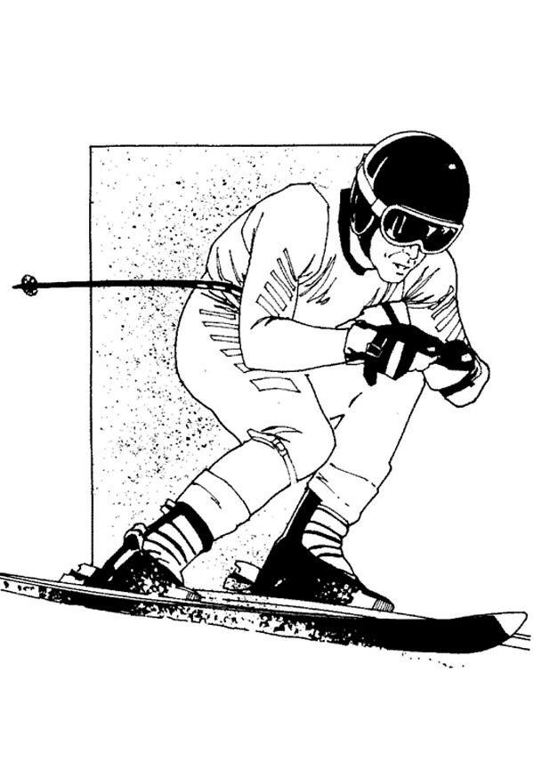 Kids n 11 ausmalbilder von skifahren - Ski alpin dessin ...