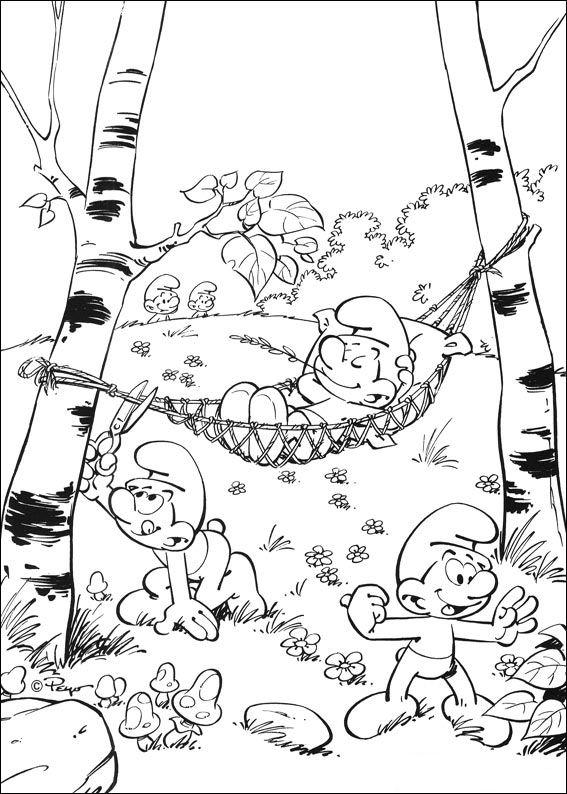 Kids N Fun De 59 Ausmalbilder Von Schlumpfe