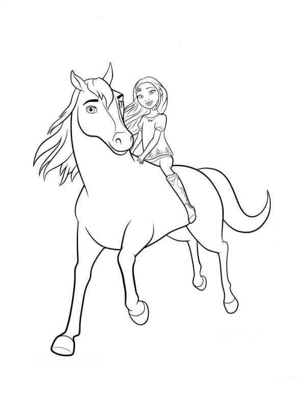 kidsnfunde  malvorlage spirit riding free spirit lucky 2