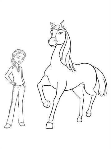 Lucky Paard Kleurplaat Kids N Fun De 16 Ausmalbilder Von Spirit Riding Free