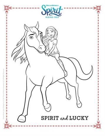 Kids N Fun De 16 Ausmalbilder Von Spirit Riding Free