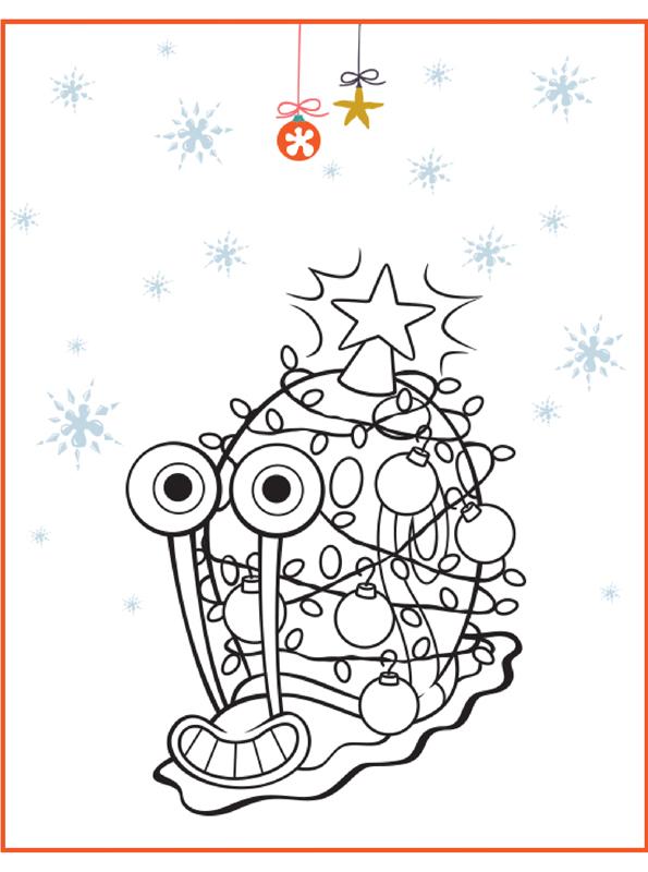 kidsnfunde  malvorlage spongebob weihnachten gary