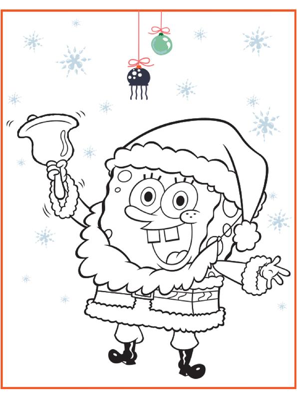 kidsnfunde  malvorlage spongebob weihnachten spongebob