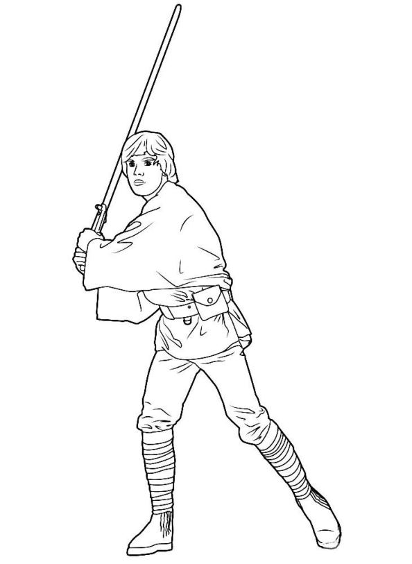 Star Wars Malvorlagen Luke Coloring And Malvorlagan