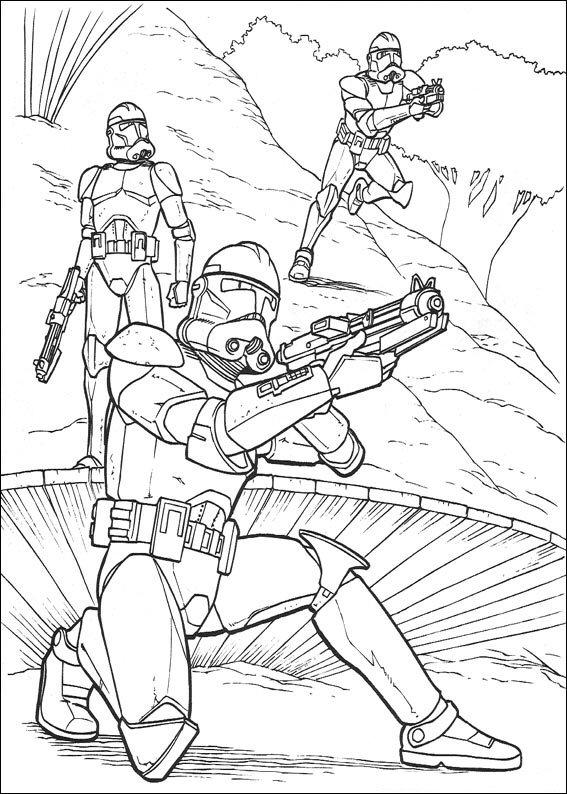 Kidsnfunde  67 Ausmalbilder von Star Wars