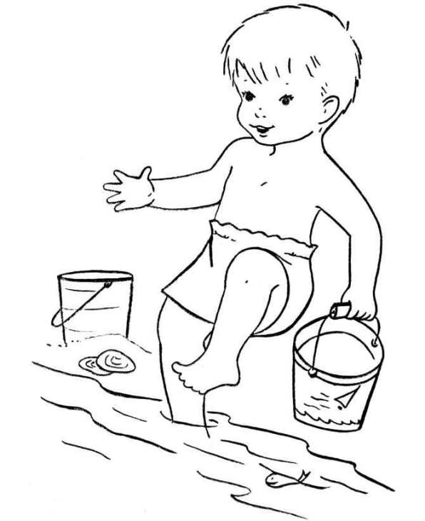 kidsnfunde  malvorlage strand strand