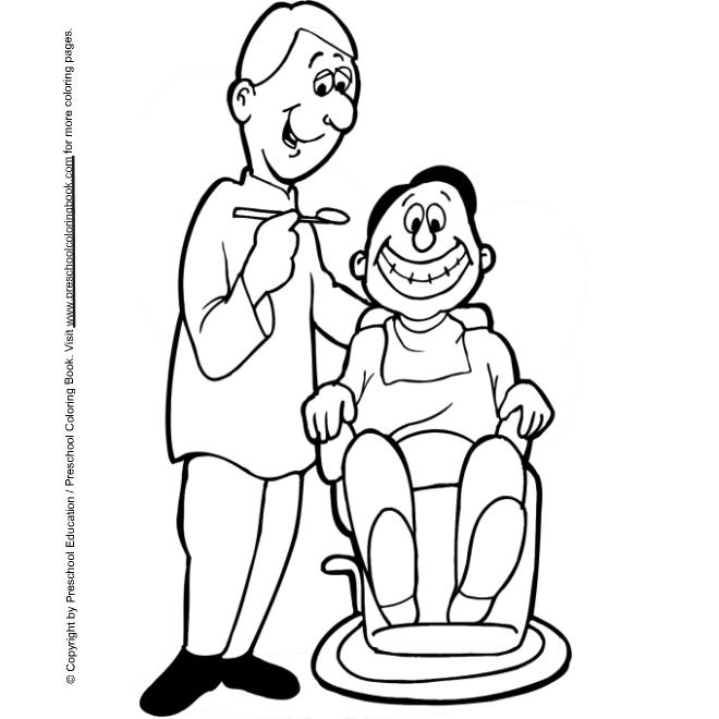 Kids N Fun De 9 Ausmalbilder Von Zahnarzt
