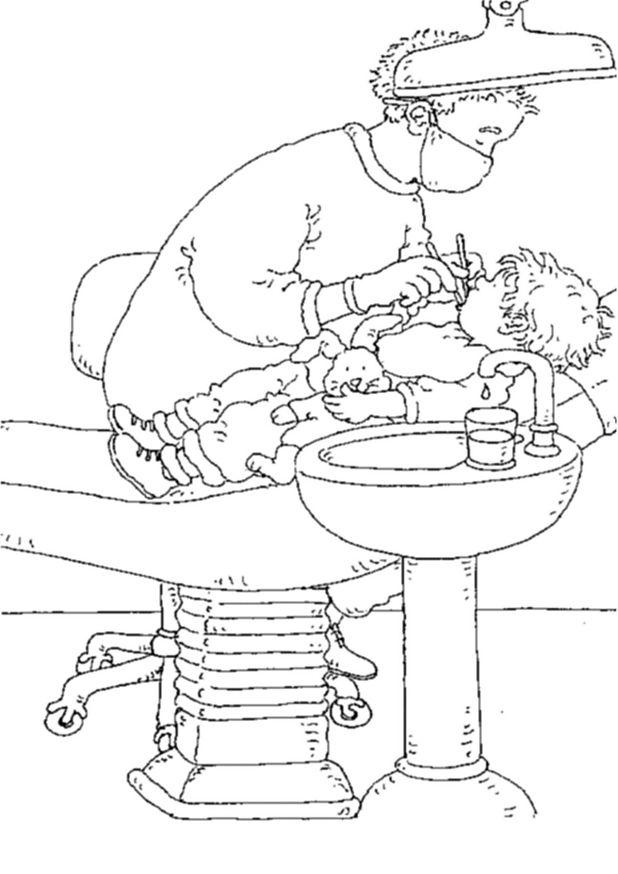 Kids-n-fun.de   9 Ausmalbilder von Zahnarzt