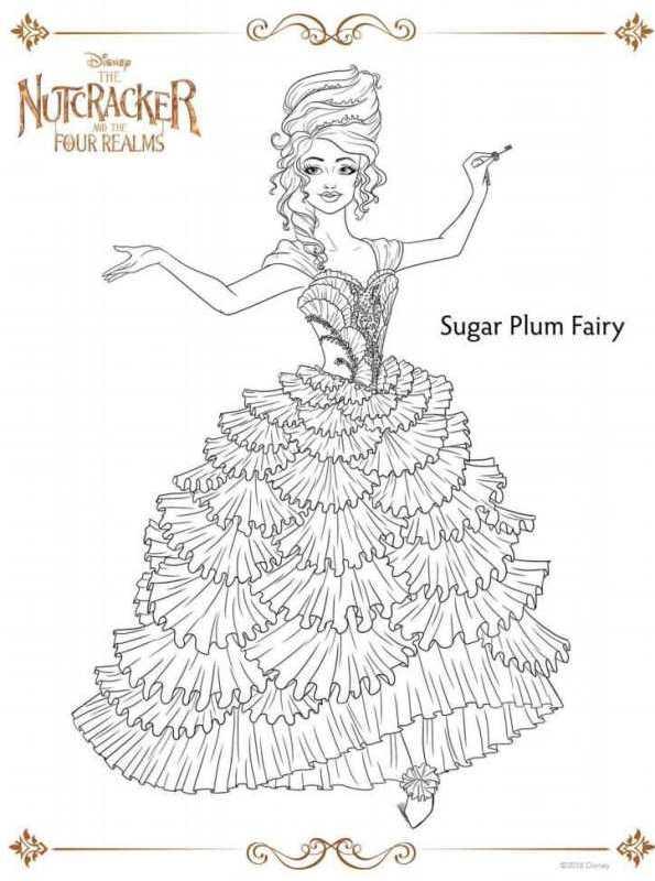 kidsnfunde  malvorlage der nussknacker sugar plum fairy