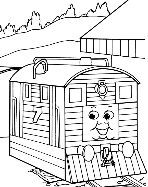 Kids-n-fun.de | 56 Ausmalbilder von Thomas die kleine Lokomotive
