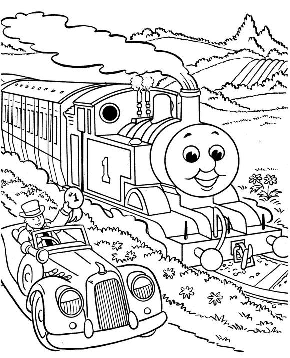 kidsnfunde  malvorlage thomas die kleine lokomotive