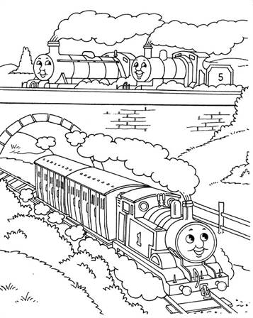 Kids N Fun De 56 Ausmalbilder Von Thomas Die Kleine Lokomotive