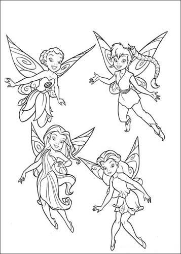 Kids N Fun De 58 Ausmalbilder Von Tinker Bell