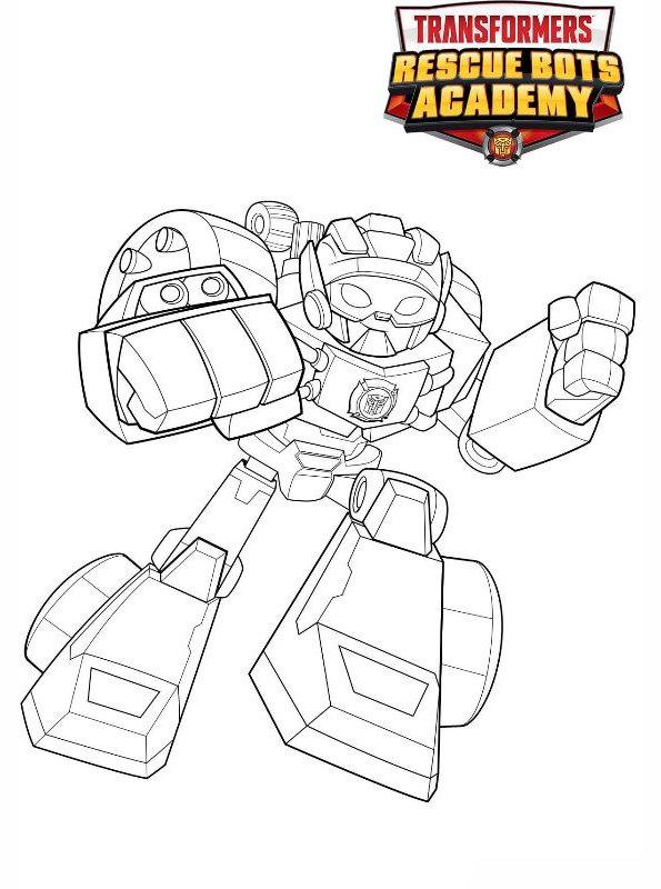 kidsnfunde  malvorlage transformers rescue bots hotshot