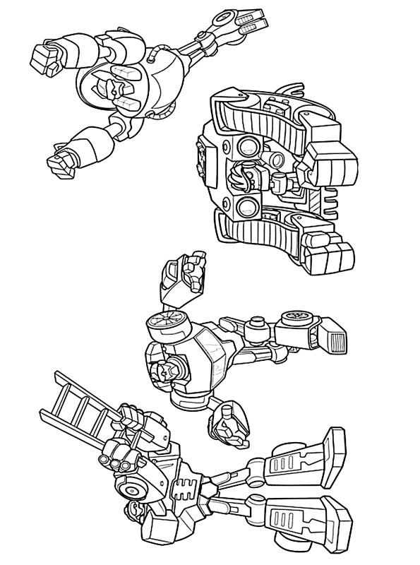kidsnfunde  malvorlage transformers rescue bots