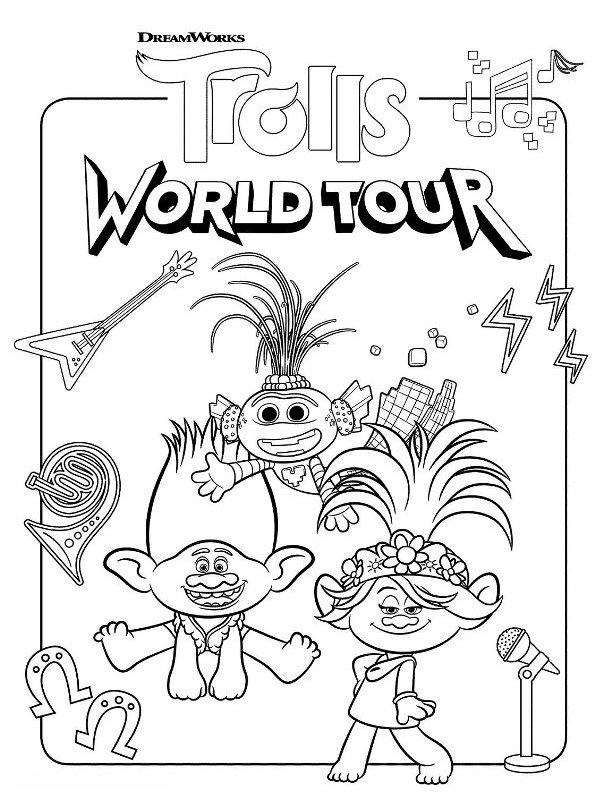 kidsnfunde  malvorlage trolls world tour trolls world tour