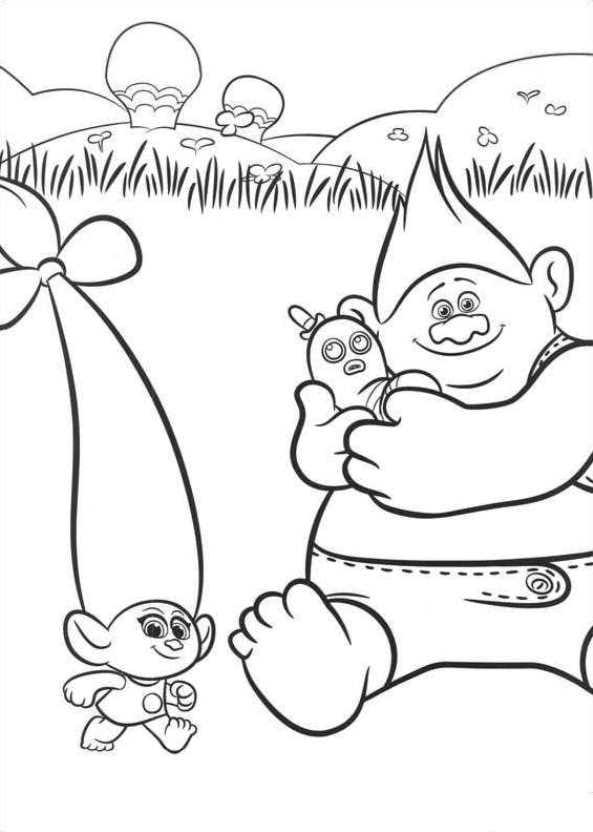 Kids n 26 ausmalbilder von trolls - Dessin de troll ...