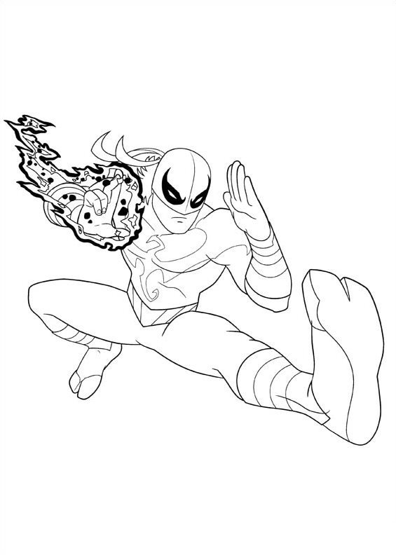 Iron Spider Coloring Pages – azspring | 792x565