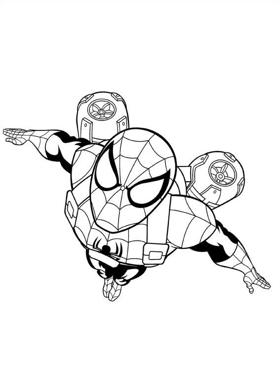 Kids-n-fun.de | 16 Ausmalbilder von Ultimate Spider man