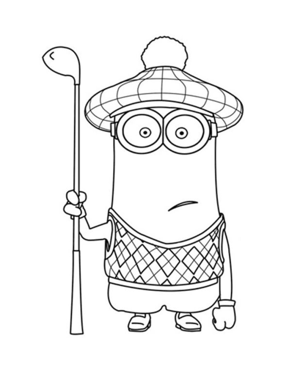 minion tim coloring pages - photo#30