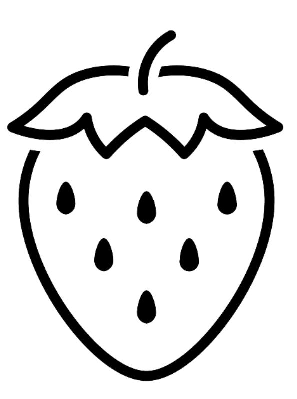 kidsnfunde  malvorlage formen von lebensmitteln erdbeere